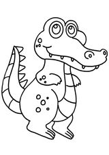 Imprimer le coloriage : Crocodile, numéro 2defd9fd
