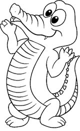 Imprimer le coloriage : Crocodile, numéro 5714