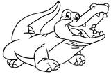 Imprimer le coloriage : Crocodile, numéro 64828
