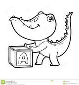 Imprimer le coloriage : Crocodile, numéro e5a40f2c