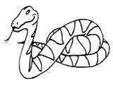 Imprimer le coloriage : Serpent, numéro 25842