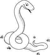 Imprimer le coloriage : Serpent, numéro 25844