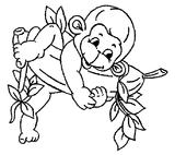 Imprimer le coloriage : Singe, numéro 170425