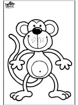 Imprimer le coloriage : Singe, numéro 501329