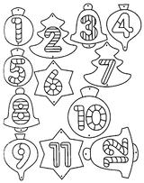 Imprimer le coloriage : Chiffres et formes, numéro 113286