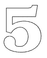 Imprimer le coloriage : Chiffres et formes, numéro 145439
