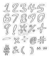 Imprimer le coloriage : Chiffres et formes, numéro 145441