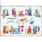 Imprimer le dessin en couleurs : Chiffres et formes, numéro 156121