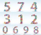 Imprimer le dessin en couleurs : Chiffres et formes, numéro 240588