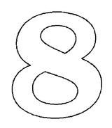 Imprimer le coloriage : Chiffres et formes, numéro 262365