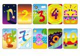 Imprimer le dessin en couleurs : Chiffres et formes, numéro 619315