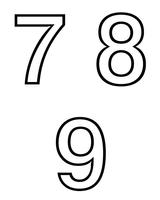 Imprimer le coloriage : Chiffres et formes, numéro 6816