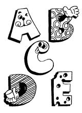 Imprimer le coloriage : Alphabet, numéro 124983
