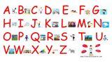 Imprimer le dessin en couleurs : Alphabet, numéro 21fc220a
