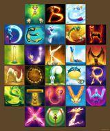 Imprimer le dessin en couleurs : Alphabet, numéro 231541