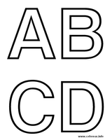 Imprimer le coloriage : Alphabet, numéro 349732