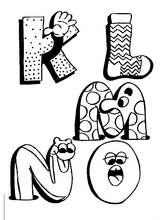 Imprimer le coloriage : Alphabet, numéro 426801
