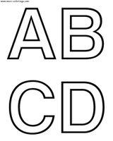 Imprimer le coloriage : Alphabet, numéro 49472