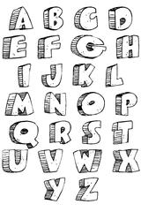 Imprimer le coloriage : Alphabet, numéro 49519