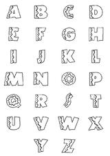 Imprimer le coloriage : Alphabet, numéro 51800