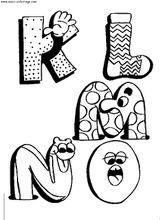 Imprimer le coloriage : Alphabet, numéro 57288