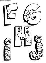 Imprimer le coloriage : Alphabet, numéro 57289