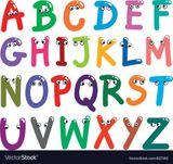Imprimer le dessin en couleurs : Alphabet, numéro 7373ab86