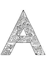Imprimer le coloriage : Lettre a, numéro 2f3e5a2b
