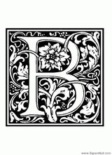 Imprimer le coloriage : Lettre b, numéro 114456