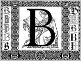 Imprimer le coloriage : Lettre b, numéro 237380
