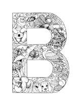 Imprimer le coloriage : Lettre b, numéro 285750