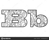 Imprimer le coloriage : Lettre b, numéro 32fe03c3