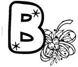 Imprimer le coloriage : Lettre b, numéro 376750