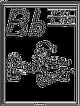 Imprimer le coloriage : Lettre b numéro 407764