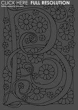 Imprimer le coloriage : Lettre b, numéro 434500