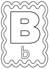 Imprimer le coloriage : Lettre b, numéro 4b515bd5