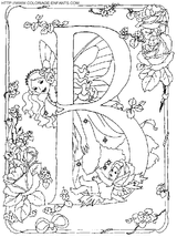 Imprimer le coloriage : Lettre b, numéro 52763