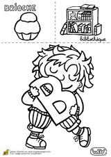 Imprimer le coloriage : Lettre b, numéro 52764