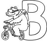 Imprimer le coloriage : Lettre b, numéro 7bd445ab