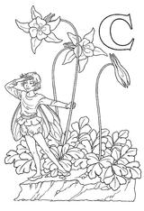 Imprimer le coloriage : Lettre c, numéro 200315