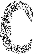 Imprimer le coloriage : Lettre c, numéro 253783