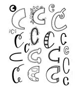 Imprimer le coloriage : Lettre c, numéro 4d3d24c0