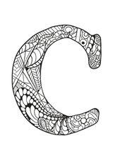 Imprimer le coloriage : Lettre c, numéro 53c64ff4