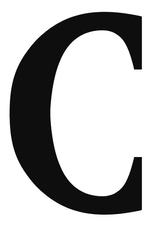 Imprimer le coloriage : Lettre c, numéro 66761