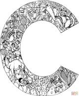 Imprimer le coloriage : Lettre c, numéro eb61c766