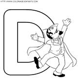 Imprimer le coloriage : Lettre d, numéro 148080