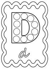 Imprimer le coloriage : Lettre d, numéro 8b46ba41