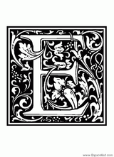 Imprimer le coloriage : Lettre e, numéro 125059