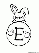 Imprimer le coloriage : Lettre e, numéro 52798