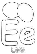 Imprimer le coloriage : Lettre e, numéro 687093